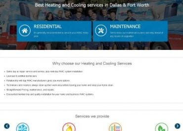 New HVAC Website