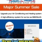Major Heating and Air Summer Sale